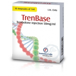 TRENBASE TRENBOLONE SUSPENSION 50mg/ml. 10 amp. EMINENCE LABS