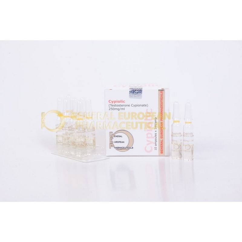 CYPIOLIC TESTOSTERONE CYPIONATE 250mg/ml. 10 amp. GENERAL EUROPEAN PHARMACEUTICALS