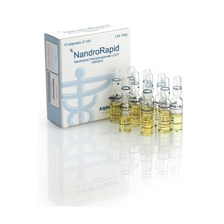 NANDRORAPID NANDROLONE PHENYLPROPIONATE 100mg/ml. 10 amp. ALPHA PHARMA