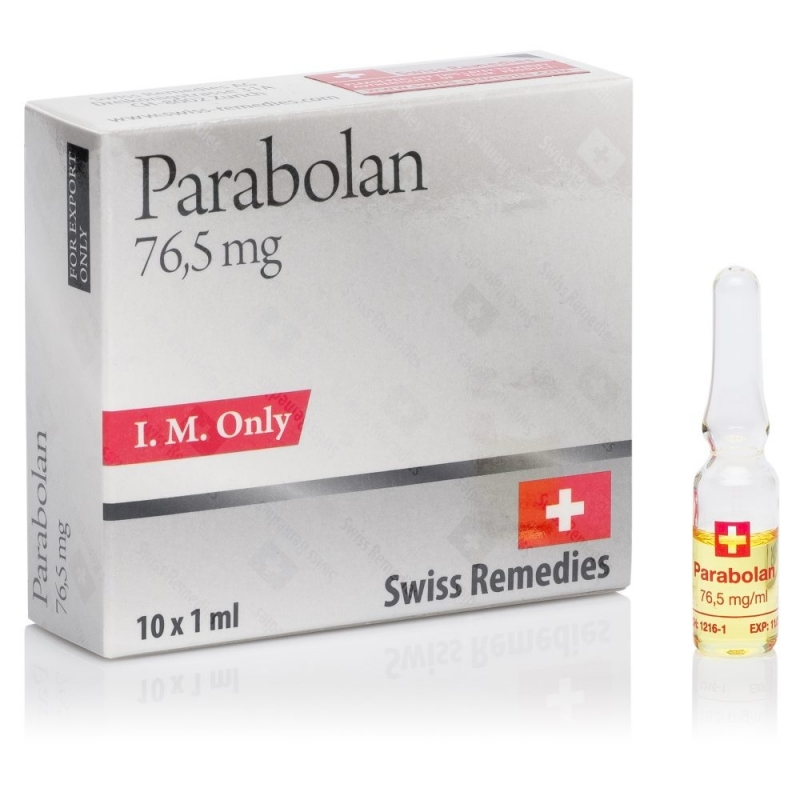 PARABOLAN TRENBOLONE HEXABENZYLHYDROCARBONATE 76.5mg/ml. 10 amp. SWISS REMEDIES