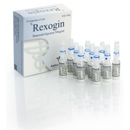 REXOGIN STANOZOLOL INJECTION 50mg/ml. 10 amp. ALPHA PHARMA